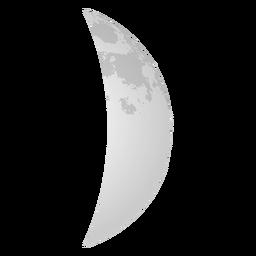 Icono realista de luna creciente