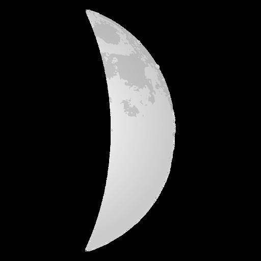 Icono realista de luna creciente Transparent PNG