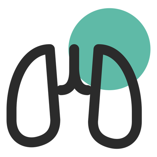Órgano de pulmón coloreado icono de trazo Transparent PNG