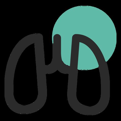 Lungs organ colored stroke icon