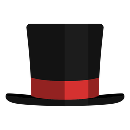 Icono de vista frontal de sombrero de mago