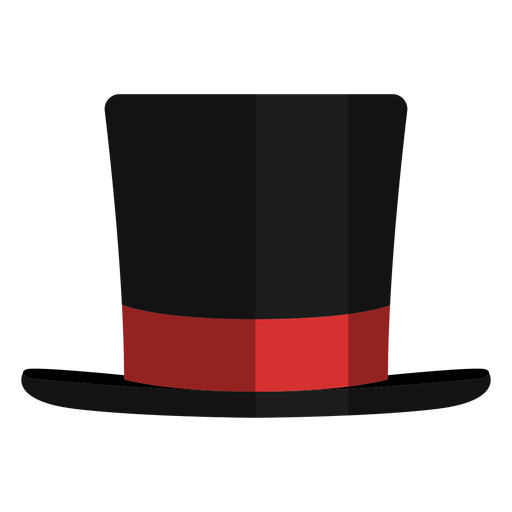 Magician hat front view icon