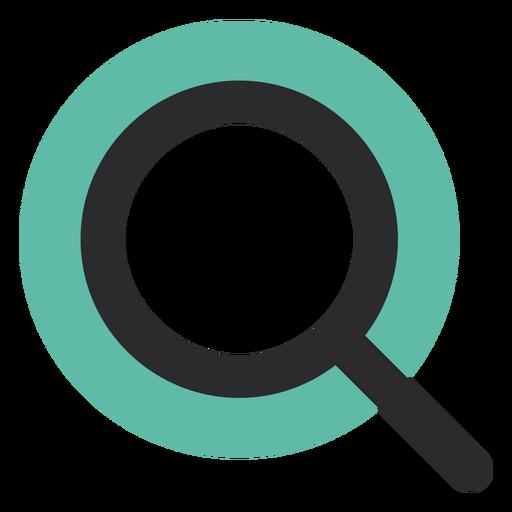 Icono de trazo de color lupa Transparent PNG
