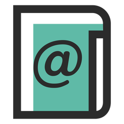 Mailing list colored stroke icon