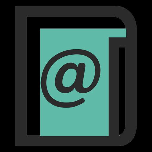Lista de correo icono de trazo de color Transparent PNG