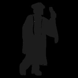 Hombre graduado silueta