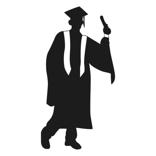 Male graduate silhouette Transparent PNG