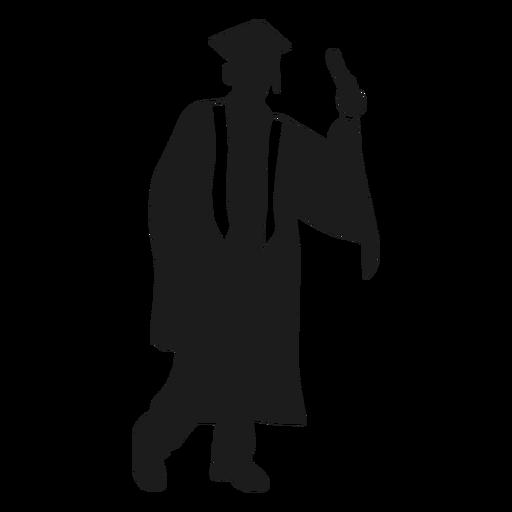 Silueta de graduado masculino