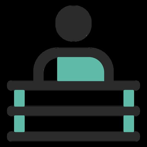 Hombre detrás de icono de escritorio Transparent PNG