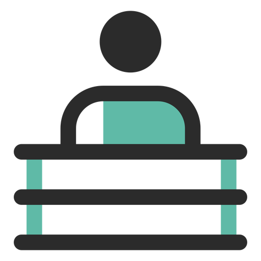 Man behind desk icon Transparent PNG