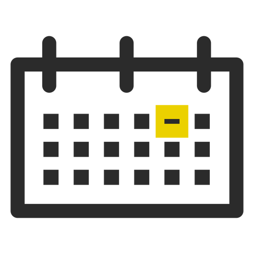Marked date colored stroke icon Transparent PNG