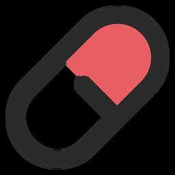 Medizinische Pille farbige Strich-Symbol