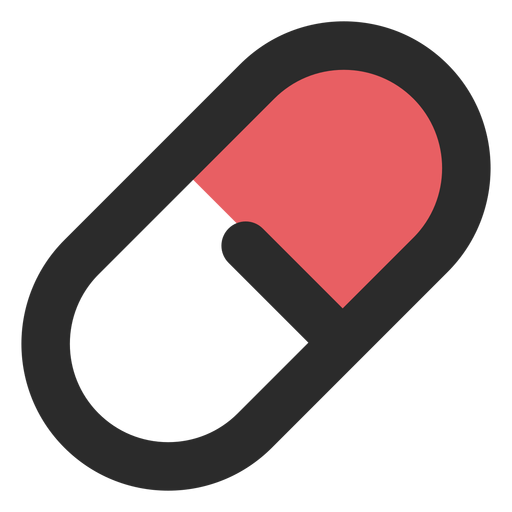 Ícone de traço colorido de comprimido médico