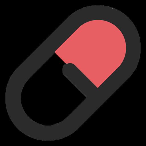 Icono de trazo de color de píldora médica