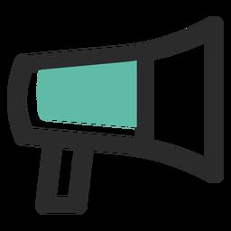 Ícone de traço colorido de megafone