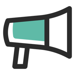 Megaphone colored stroke icon