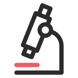 Microscope colored stroke icon