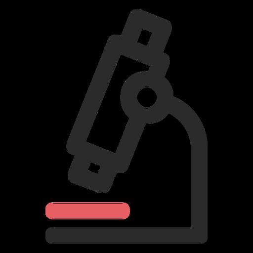 Ícone de traço colorido de microscópio Transparent PNG