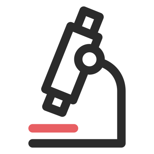 Microscope colored stroke icon Transparent PNG