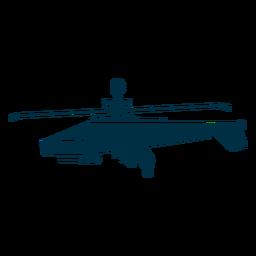 Helicóptero militar silhueta ícones de helicóptero