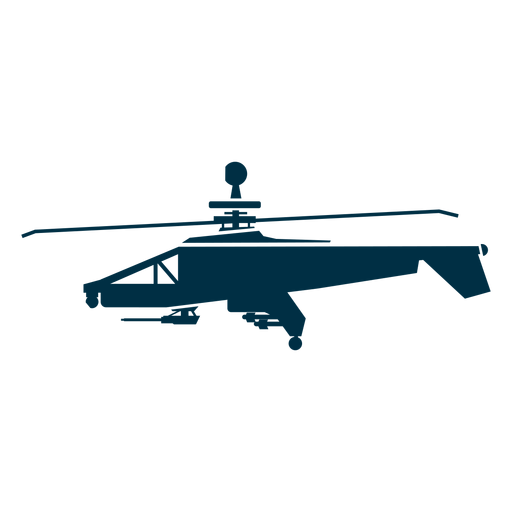 Military helicopter silhouette helicopter icons Transparent PNG