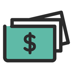 Money bills colored stroke icon