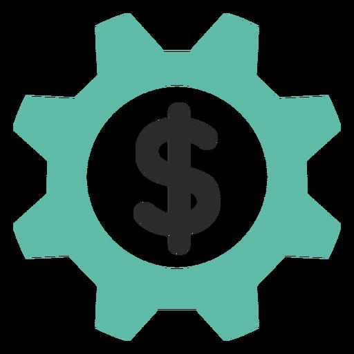 Ícone de engrenagem de dinheiro Transparent PNG