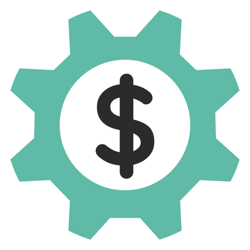 Money gear icon Transparent PNG