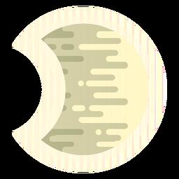 Luna redondeada icono de líneas