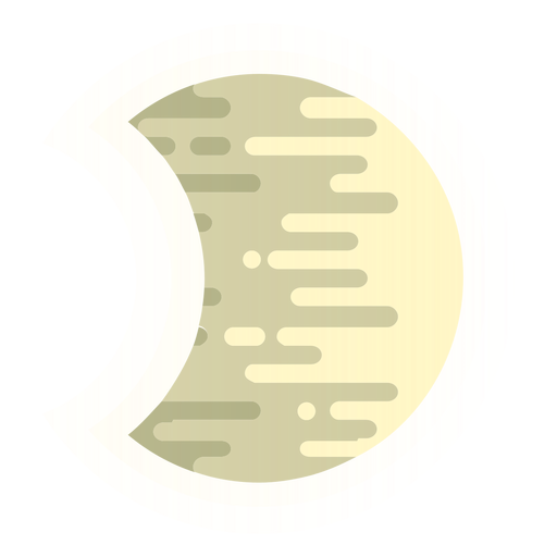Luna redondeada icono de líneas Transparent PNG