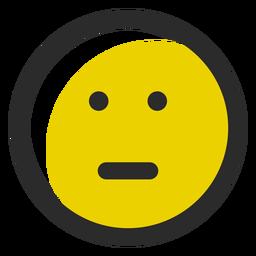 Emoticon mit neutralem Schlaganfall