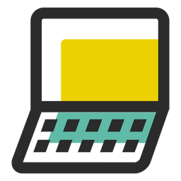 Caderno colorido ícone de traço