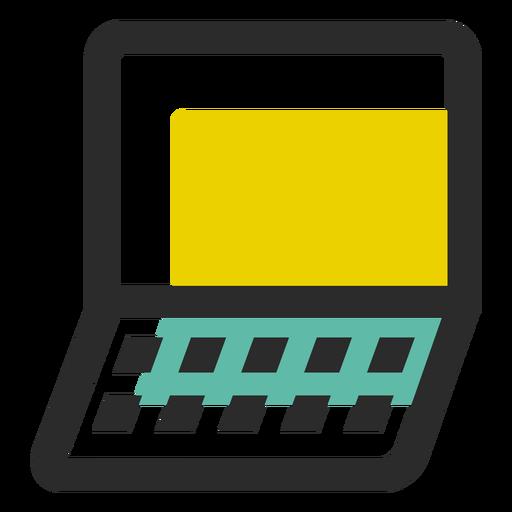Icono de trazo de color de cuaderno Transparent PNG