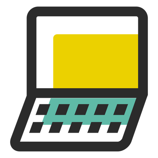 Notebook colored stroke icon Transparent PNG