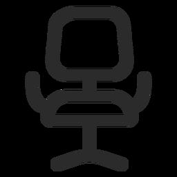 Icono de trazo frontal de silla de oficina