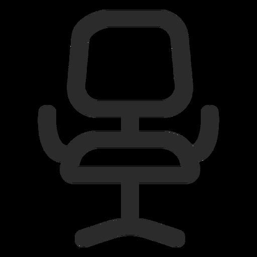Icono de trazo frontal de silla de oficina Transparent PNG