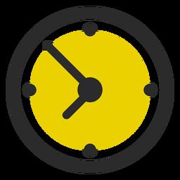 Icono de trazo coloreado de reloj de oficina