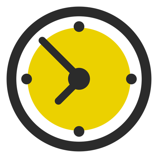Icono de trazo coloreado de reloj de oficina Transparent PNG
