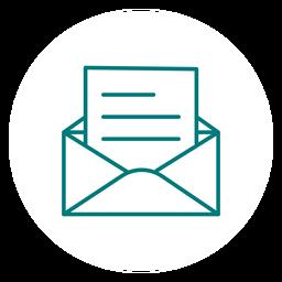 Abra o ícone de traço de correio