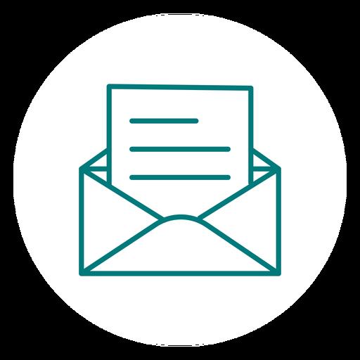 Abrir icono de trazo de correo Transparent PNG