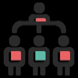 Ícone de estrutura organizacional