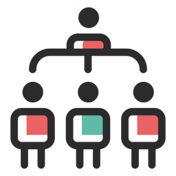 Organisational structure icon