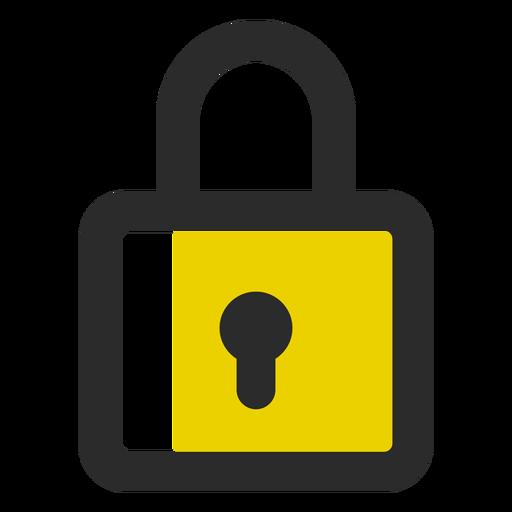 Ícone de traço colorido cadeado Transparent PNG