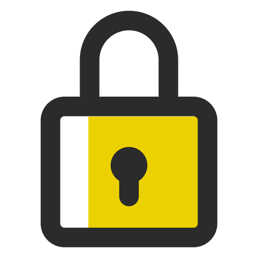 Padlock colored stroke icon Transparent PNG