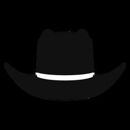 Panama hat front view flat