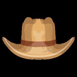 Icono de vista frontal de sombrero de Panamá