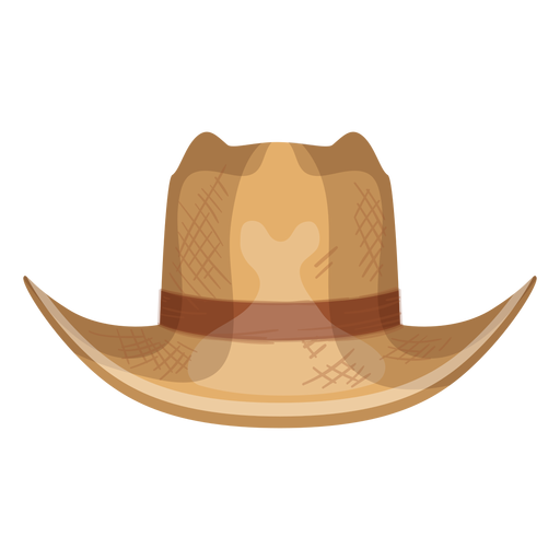 Panama hat front view icon Transparent PNG