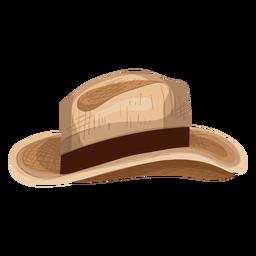 Icono de sombrero de panama