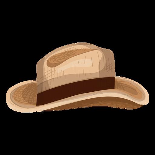 Icono de sombrero de panama Transparent PNG