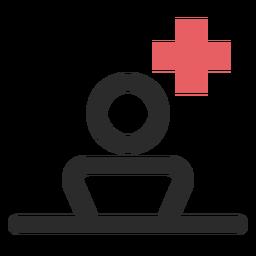 Icono de trazo de color del paciente